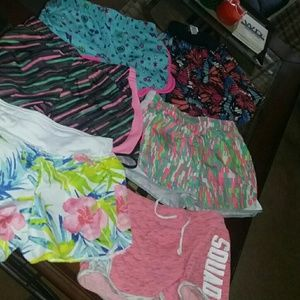Girls shorts 6 pair for 22